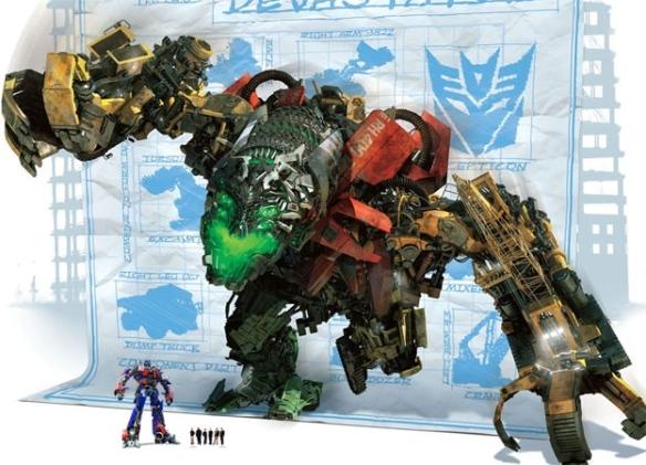 """Devastador en """"Transformers 2"""" sera un gigante de 40 metros de altura"""