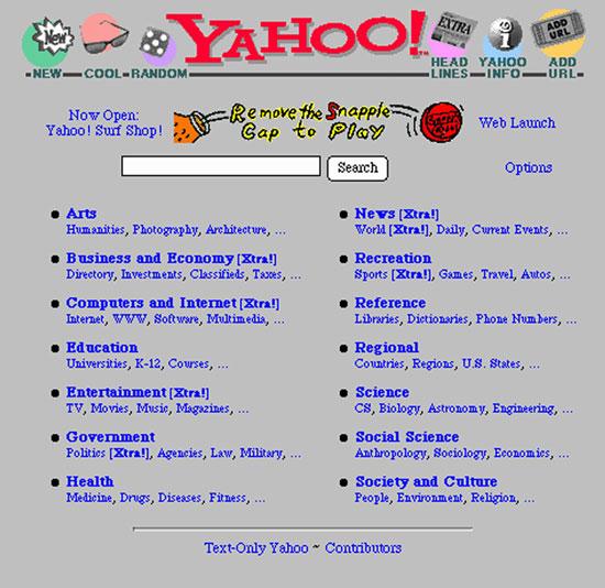 Asi era Yahoo! antes