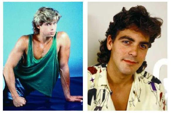 A su izquierda, Brad Pitt. A su derecha, George Clooney. A ver... decian???