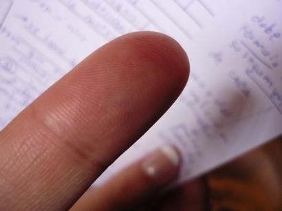 Imaginense, hasta le tome foto a mi dedo...